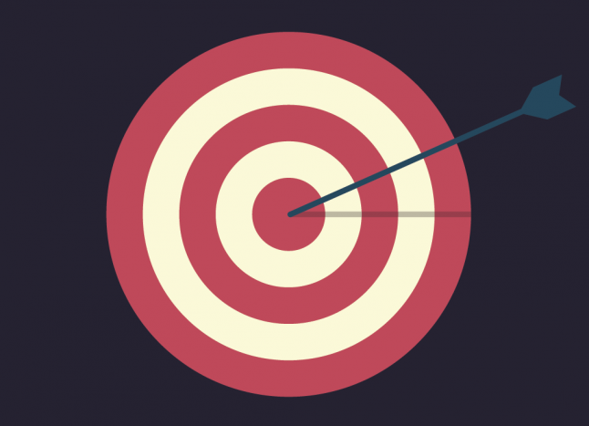 Flat illustration with target