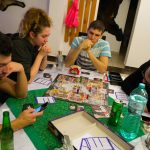 Our team playing Cluedo boardgame
