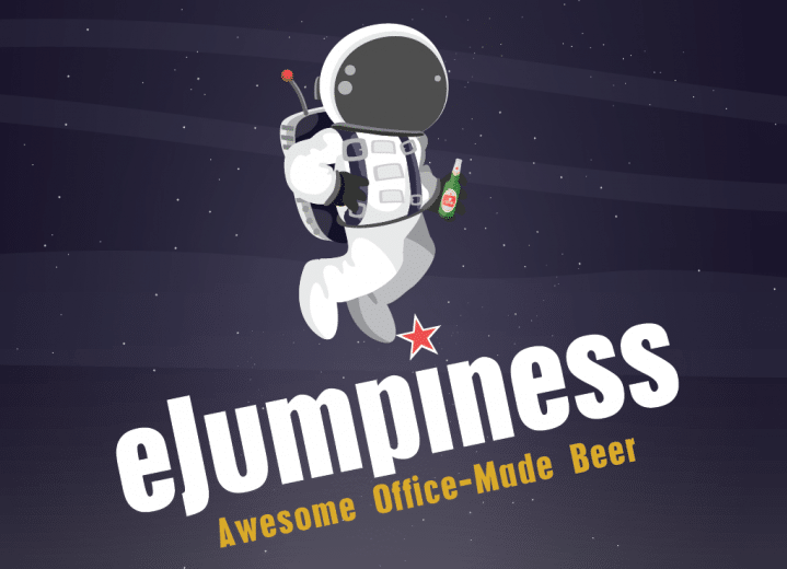 Office-made beer label eJumpiness